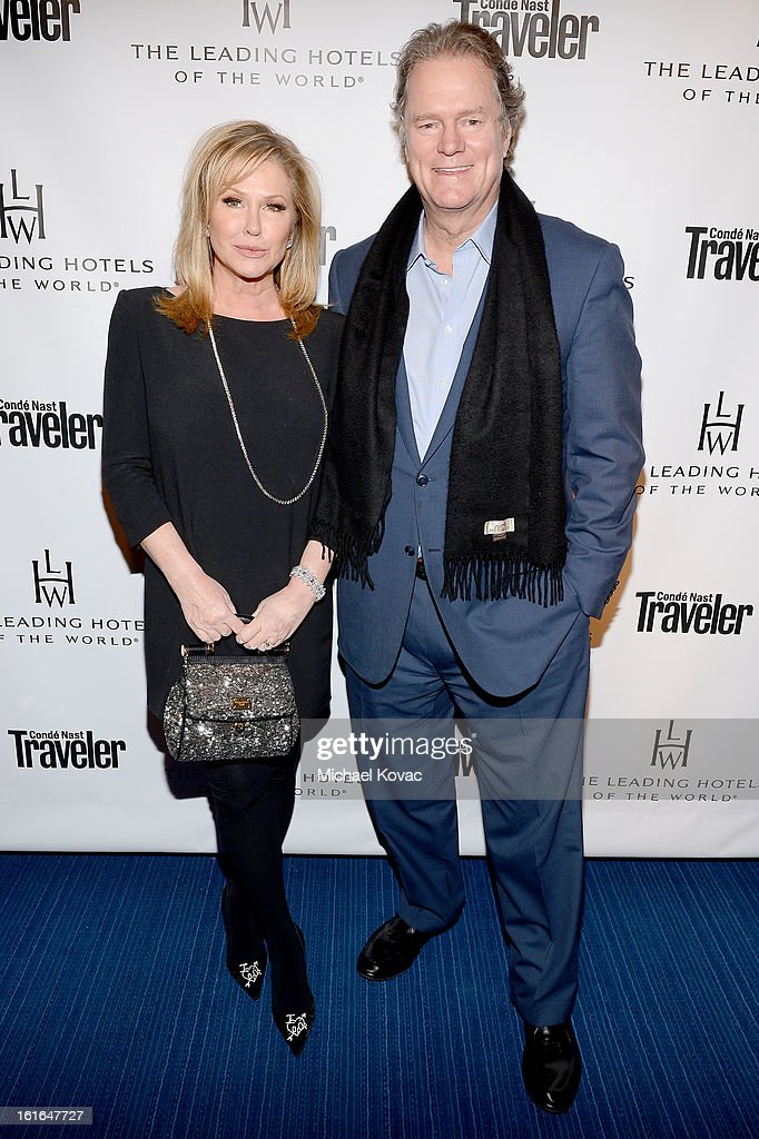 Kathy Hilton and Rick Hilton join Conde Nast Traveler as they celebrate The Leading Hotels Of The World 85th Anniversary at Mr. C Beverly Hills on February 13, 2013 in Beverly Hills, California.