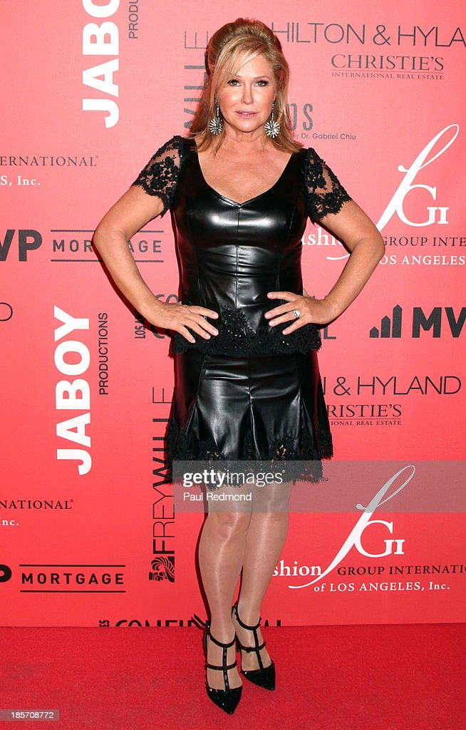 <a gi-track='captionPersonalityLinkClicked' href=/galleries/search?phrase=Kathy+Hilton&family=editorial&specificpeople=209306 ng-click='$event.stopPropagation()'>Kathy Hilton</a> arrives at FGILA's 5th Annual Designer & The Muse hosted by <a gi-track='captionPersonalityLinkClicked' href=/galleries/search?phrase=Kathy+Hilton&family=editorial&specificpeople=209306 ng-click='$event.stopPropagation()'>Kathy Hilton</a> at Mr. C Beverly Hills on October 23, 2013 in Beverly Hills, California.