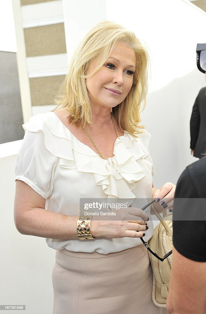 Kathy Hilton attend Vhernier luncheon hosted by Jennifer Hale from C Magazine at Gagosian Gallery on November 7, 2013 in Beverly Hills, California.