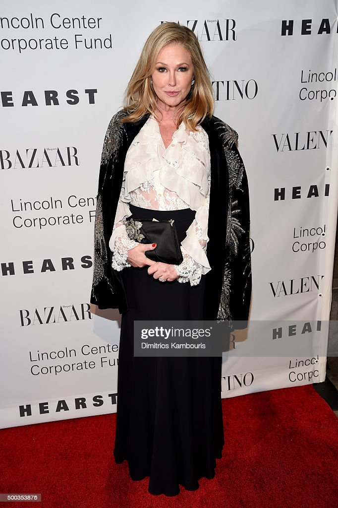 Kathy Hilton attends an evening honoring Valentino at Lincoln Center Corporate Fund Black Tie Gala on December 7, 2015 in New York City.