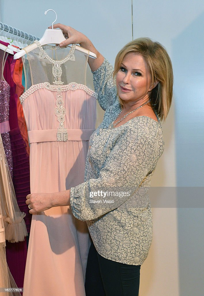 Kathy Hilton attends Kathy Hilton Fall 2013 Collection Preview at the Coterie International Fashion Exhibition at Jacob Javitz Center on February 26, 2013 in New York City.