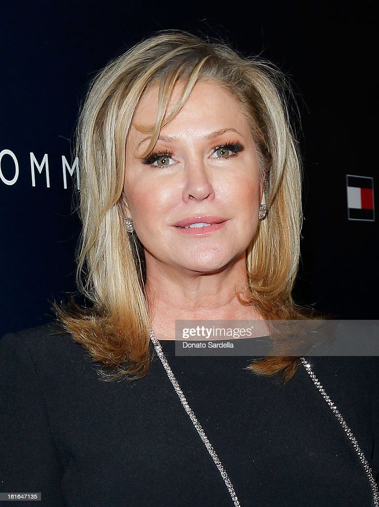 <a gi-track='captionPersonalityLinkClicked' href=/galleries/search?phrase=Kathy+Hilton&family=editorial&specificpeople=209306 ng-click='$event.stopPropagation()'>Kathy Hilton</a> attends Tommy Hilfiger New West Coast Flagship Opening on Robertson Boulevard on February 13, 2013 in West Hollywood, California.