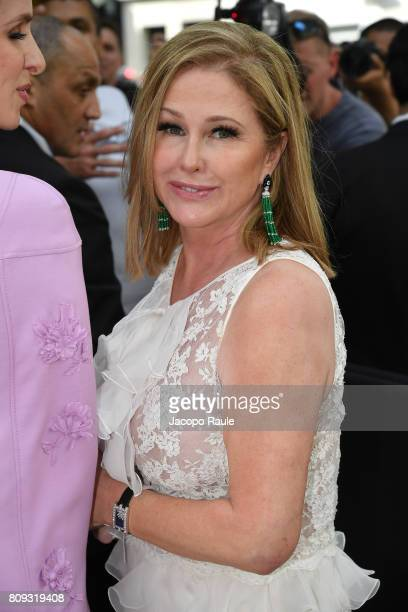 Kathy Hilton is seen arriving at Valentino fashion show during the Paris Fashion Week Haute Couture Fall/Winter 20172018 on July 5 2017 in Paris...