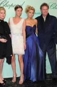 Kathy Hilton Nicky Hilton Paris Hilton and Rick Hilton attend the Chopard 150th Anniversary Party at Palm Beach Pointe Croisette during the 63rd...