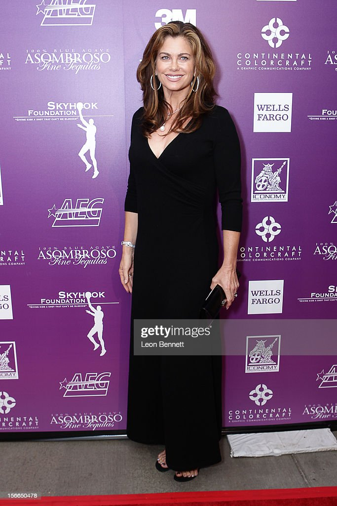 <a gi-track='captionPersonalityLinkClicked' href=/galleries/search?phrase=Kathy+Ireland&family=editorial&specificpeople=213018 ng-click='$event.stopPropagation()'>Kathy Ireland</a> arrives at the Kareem Abdul-Jabbar Celebrity Roast Hosted By George Lopez at JW Marriott Los Angeles at L.A. LIVE on November 17, 2012 in Los Angeles, California.