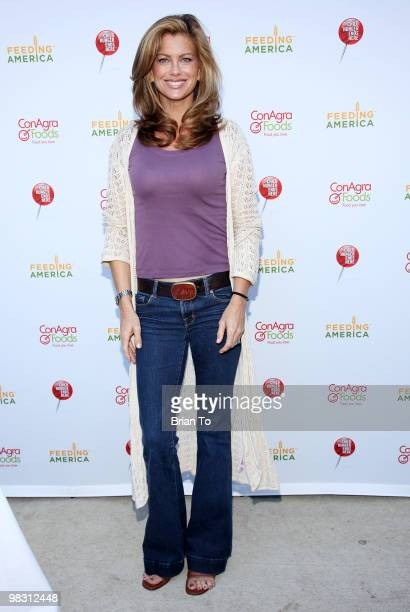 Kathy Ireland attends 'Child Hunger Ends Here' neighborhood celebrity rally on Wisteria Lane at NBC Universal lot on April 7 2010 in Universal City...