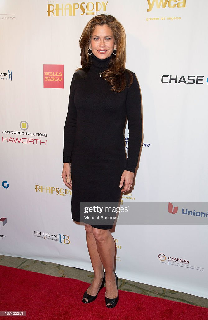 Kathy Ireland attends YWCA greater Los Angeles hosts The Rhapsody Ball fundraiser at Beverly Hills Hotel on November 8, 2013 in Beverly Hills, California.