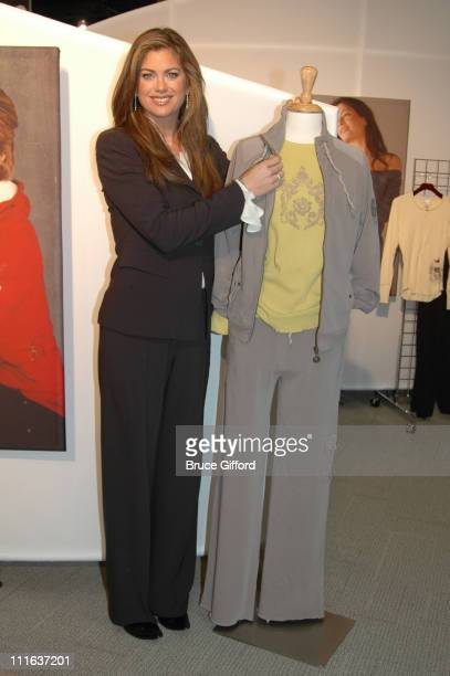 Kathy Ireland during Nelly Announces His New Line of Clothing at Magic Marketplace 2006 at Las Vegas Convention Center in Las Vegas Nevada United...