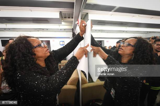 Kathy Jordan Sharpton backstage during Amateur Night At The Apollo Super Top Dog at The Apollo Theater on November 22 2017 in New York City Photo by...