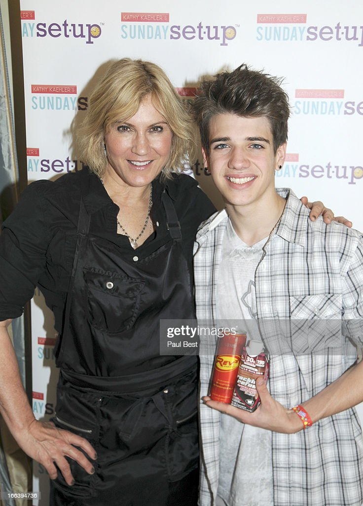 Kathy Kaehler and Brandon Tyler Russell attend 3rd Annual Rockn Rolla Movie Awards Eco Party on April 11, 2013 in Los Angeles, California.