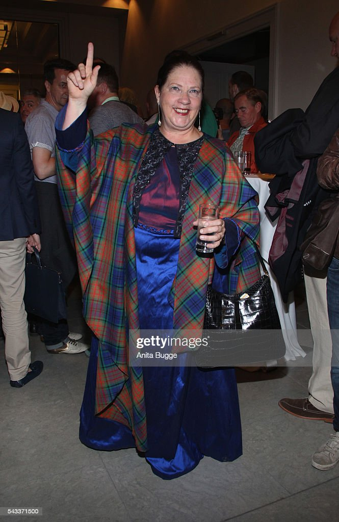 Kathy Kelly attends the fashion staging of the fairy tale 'Die zertanzten Schuhe' by Harald Gloeoeckler at Hotel de Rome on June 27, 2016 in Berlin, Germany.