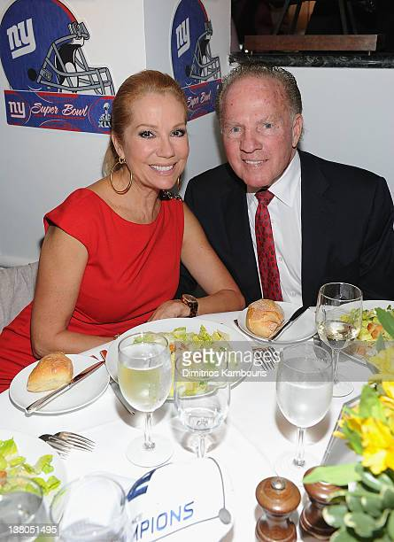 Kathy Lee Gifford and Frank Gifford attend the New York Giants Super Bowl Pep Rally Luncheon at Michael's on February 1 2012 in New York City