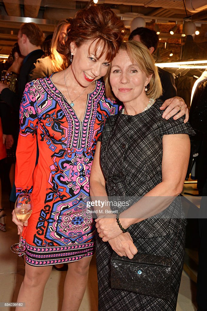 <a gi-track='captionPersonalityLinkClicked' href=/galleries/search?phrase=Kathy+Lette&family=editorial&specificpeople=604140 ng-click='$event.stopPropagation()'>Kathy Lette</a> (L) and Sarah Sands, Editor of the London Evening Standard, attend the London Evening Standard Londoner's Diary 100th Birthday Party in partnership with Harvey Nichols at Harvey Nichols on May 25, 2016 in London, England.