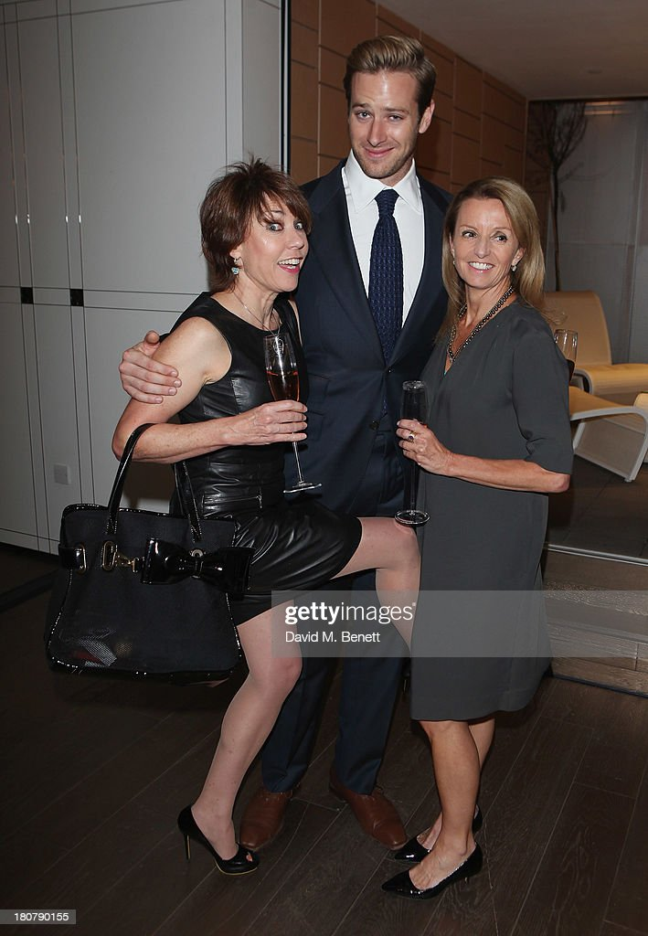 <a gi-track='captionPersonalityLinkClicked' href=/galleries/search?phrase=Kathy+Lette&family=editorial&specificpeople=604140 ng-click='$event.stopPropagation()'>Kathy Lette</a>, <a gi-track='captionPersonalityLinkClicked' href=/galleries/search?phrase=Armie+Hammer&family=editorial&specificpeople=5313113 ng-click='$event.stopPropagation()'>Armie Hammer</a> and Jane Memnler attend the Dr Lancer cocktail VIP reception for the UK launch at Harrods on September 16, 2013 in London, England.