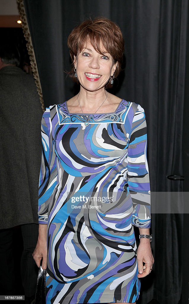 Kathy Lette attends an after party celebrating the press night performance of the Menier Chocolate Factory's 'Merrily We Roll Along', following its transfer to the Harold Pinter Theatre, at Grace Restaurant on May 1, 2013 in London, England.