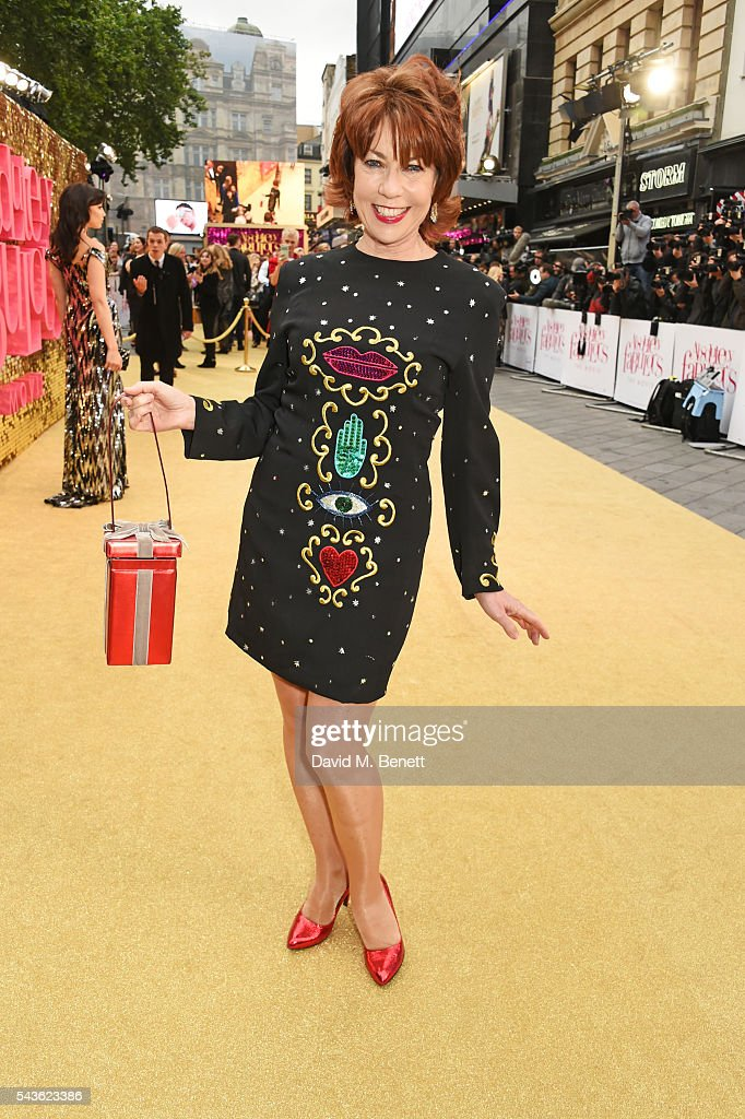 Kathy Lette attends the World Premiere of 'Absolutely Fabulous: The Movie' at Odeon Leicester Square on June 29, 2016 in London, England.