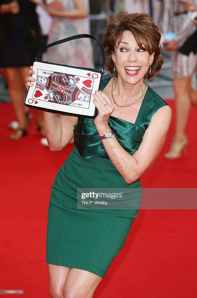 Kathy Lette attends the World Premiere of 'Diana' at Odeon Leicester Square on September 5, 2013 in London, England.