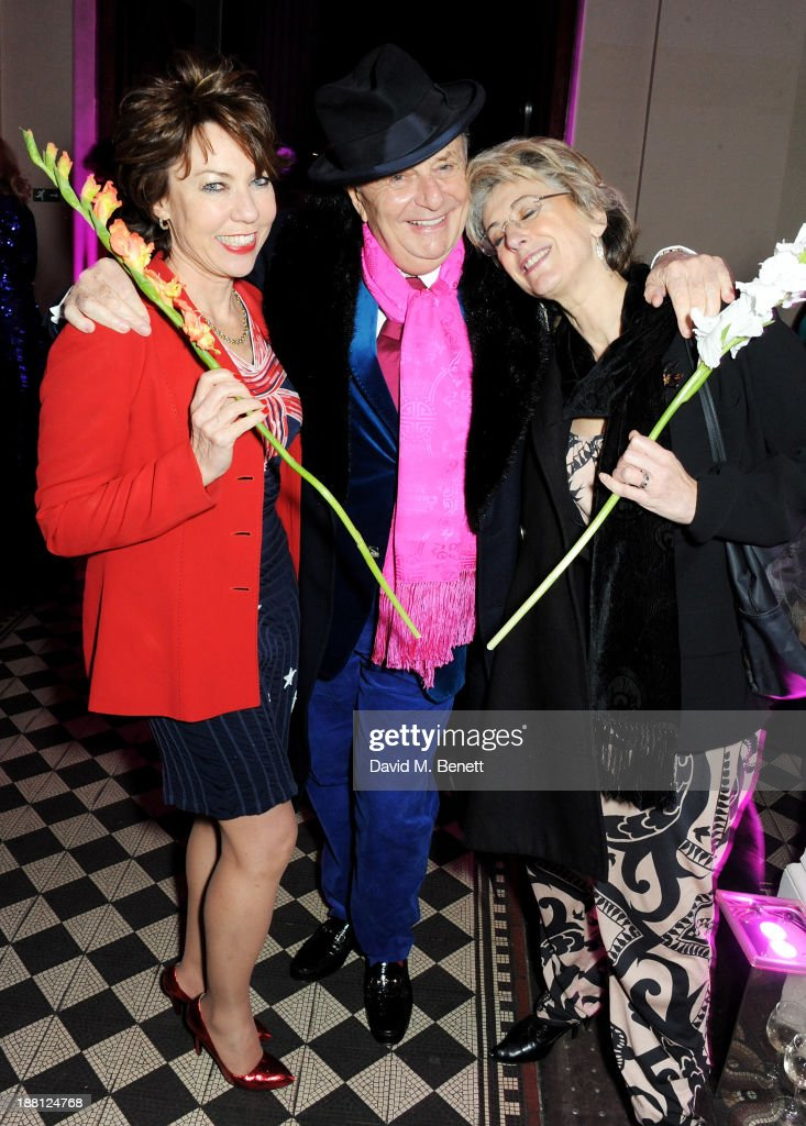 Kathy Lette, Barry Humphries and Maureen Lipman attend an after party celebrating the press night performance of 'Barry Humphries' Eat, Pray, Laugh!' at One Mayfair on November 15, 2013 in London, England.