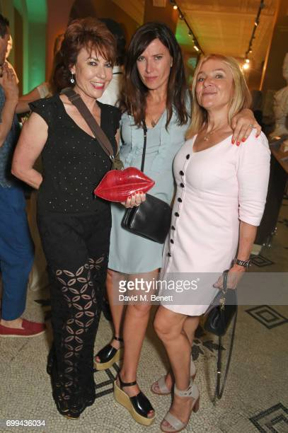 Kathy Lette Ronni Ancona and Helen Fielding attend the 2017 annual VA Summer Party in partnership with Harrods at the Victoria and Albert Museum on...