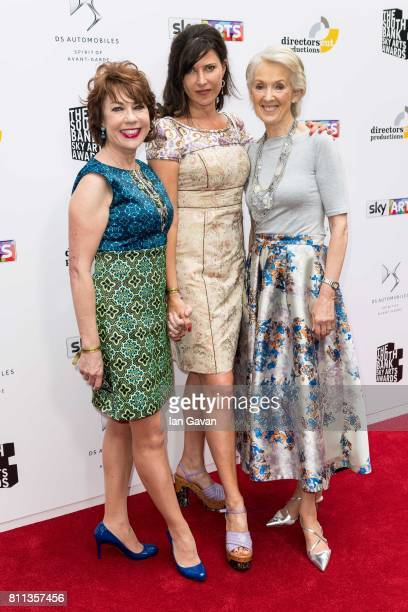 Kathy Lette Ronni Ancona and Joanna Trollope attend The Southbank Sky Arts Awards 2017 at The Savoy Hotel on July 9 2017 in London England