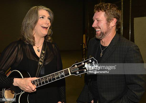 Kathy Mattea and Craig Morgan attend Playin' Possum The Final No Show Tribute To George Jones at Bridgestone Arena on November 22 2013 in Nashville...