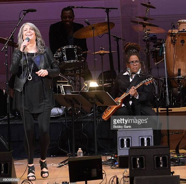 Kathy Mattea and Felicia Collins perform at Lean On Him A Tribute To Bill Withers at Carnegie Hall on October 1 2015 in New York City