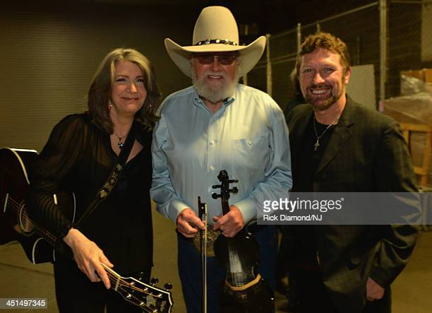 Kathy Mattea Charlie Daniels and Craig Morgan attend Playin' Possum The Final No Show Tribute To George Jones at Bridgestone Arena on November 22...