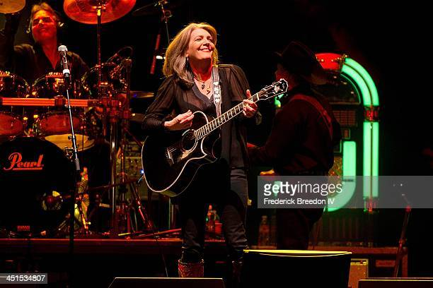Kathy Mattea performs during Playin' Possum The Final No Show Tribute To George Jones at Bridgestone Arena on November 22 2013 in Nashville Tennessee