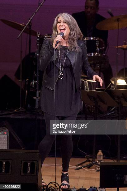 Kathy Mattea performs onstage during 'Celebrating the Music of Bill Withers' at Carnegie Hall on October 1 2015 in New York City
