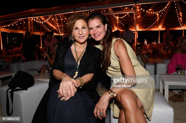 Kathy Najimy and Brooke Shields attend the weekend opening of The NEW ultraluxury Cove Resort at Atlantis Paradise Island on November 4 2017 in The...