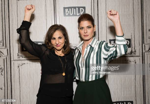 Kathy Najimy and Debra Messing attend AOL Build Series at Build Studio on April 21 2017 in New York City