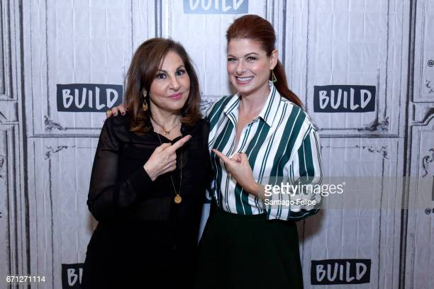 Kathy Najimy and Debra Messing attend Build Series Presents at Build Studio on April 21 2017 in New York City