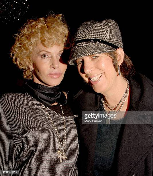 Kathy Nelson president music Universal Pictures and songwriter Diane Warren attend the Kathy Nelson/'American Gangster' CD soundtrack celebration...