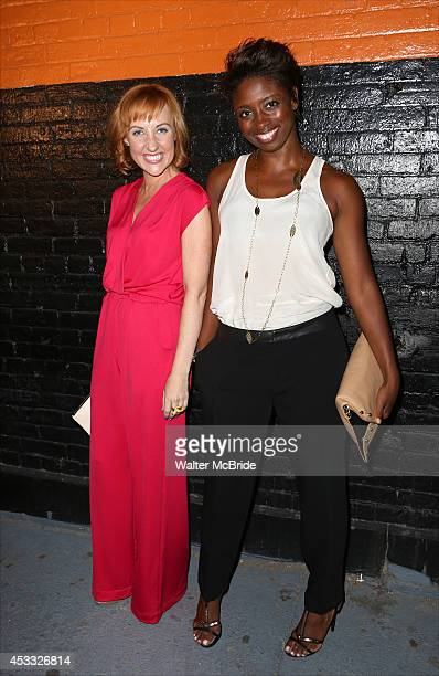 Kathy Searle and Montego Glover attend the Opening Night After Party for 'Phoenix' at The Leonora on August 7 2014 in New York City