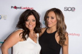 Kathy Wakile and Melissa Gorga attend the 'Goddess Night Out' event benefiting Project Lady Bug hosted by Dina Manzo on November 11 2013 in Garfield...