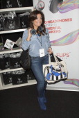 Kathy Wakile attends Flips Audio Headphones Sponsors the Official Artist Gift Lounge Cumulus Radio Row At the American Music Awards Day 1 on November...