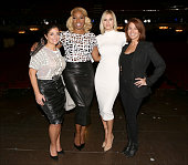 Kathy Wakile NeNe Leakes Jill Zarin and Kristen Taekman backstage after NeNe's Broadway Debut Performance in 'Rodgers Hammerstein's Cinderella' at...