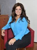 Kathy Wakile visits the Robert Bazouzi Hair Salon on October 11 2012 in Hoboken New Jersey