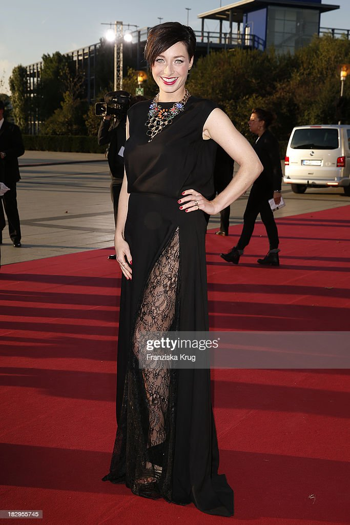 Kathy Weber attends the Deutscher Fernsehpreis 2013 - Red Carpet Arrivals at Coloneum on October 02, 2013 in Cologne, Germany.