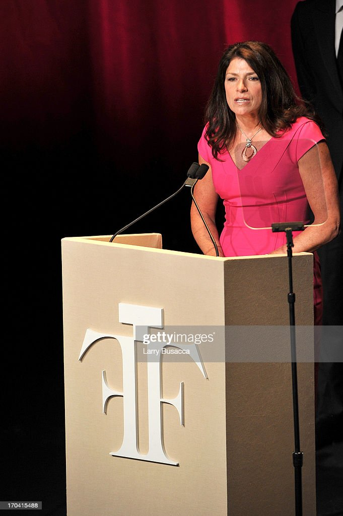 Kathy Widmer speaks onstage at the 2013 Fragrance Foundation Awards at Alice Tully Hall at Lincoln Center on June 12, 2013 in New York City.