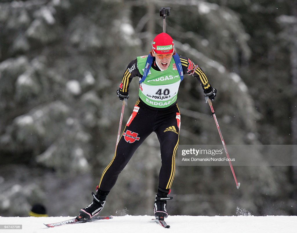 Kati Wilhelm of Germany competes during the Women's 15km Individual in the eon Ruhrgas IBU Biathlon World Cup on December 17 2009 in Pokljuka Slovenia