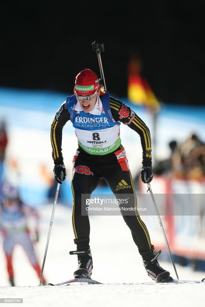 Kati Wilhelm of Germany competes during the women's individual in the eon Ruhrgas IBU Biathlon World Cup on January 20 2010 in AntholzAnterselva Italy