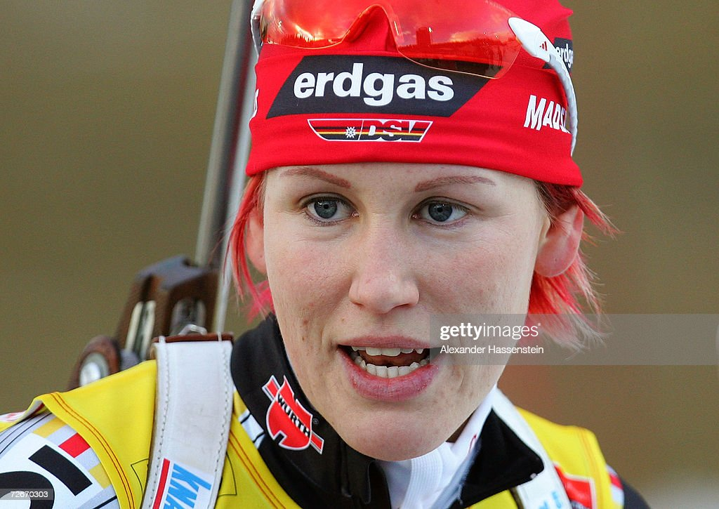 Kati Wilhelm of Germany looks on during the first Women 15 km Individual Biathlon event of the season, on November 29, 2006 in Ostersund, Sweden.