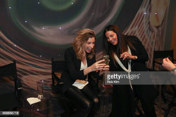 Katia Beauchamp and Lavinia Errico attend the Female Bosses celebration and BOSS BITCH book launch and interactive panel event at The Core Club on...