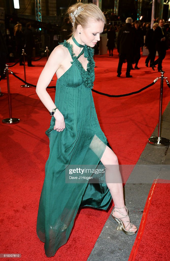 Katia Elizarova attends the EE British Academy Film Awards at The Royal Opera House on February 14, 2016 in London, England.
