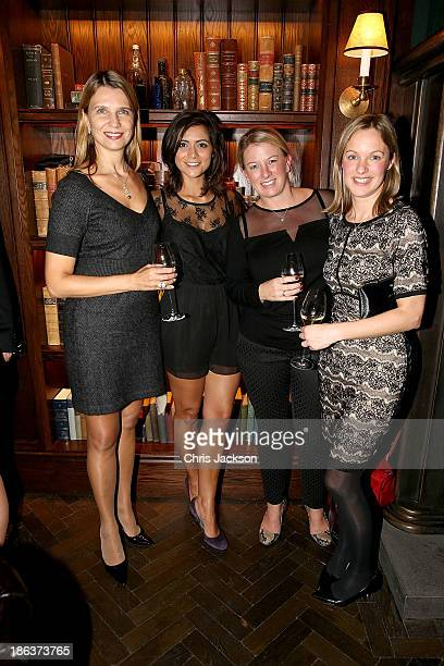 Katia Neverova Lucy Verasamy Samantha Strawford and Anna Nash attend the opening of Rosewood London on October 30 2013 in London England