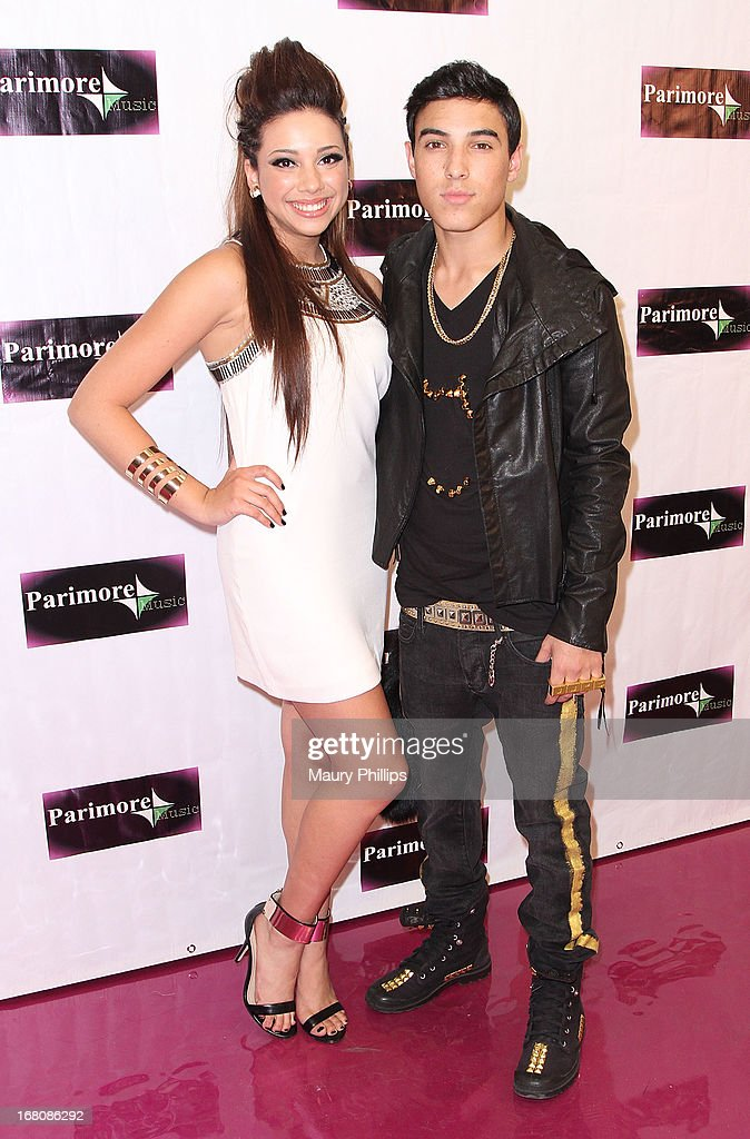 Katia Nicole and Gabe of IM5 attend Katia Nicole's Rave Music Video release party on May 4, 2013 in Los Angeles, California.