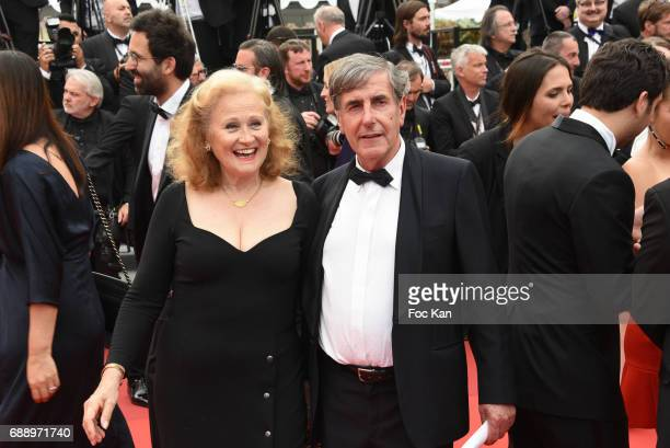 Katia Tchenko and Bernard Menez attend 'Amant Double ' Red Carpet Arrivals during the 70th annual Cannes Film Festival at Palais des Festivals on May...