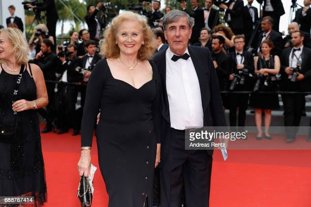 Katia Tchenko and Bernard Menez attend the 'Amant Double ' screening during the 70th annual Cannes Film Festival at Palais des Festivals on May 26...