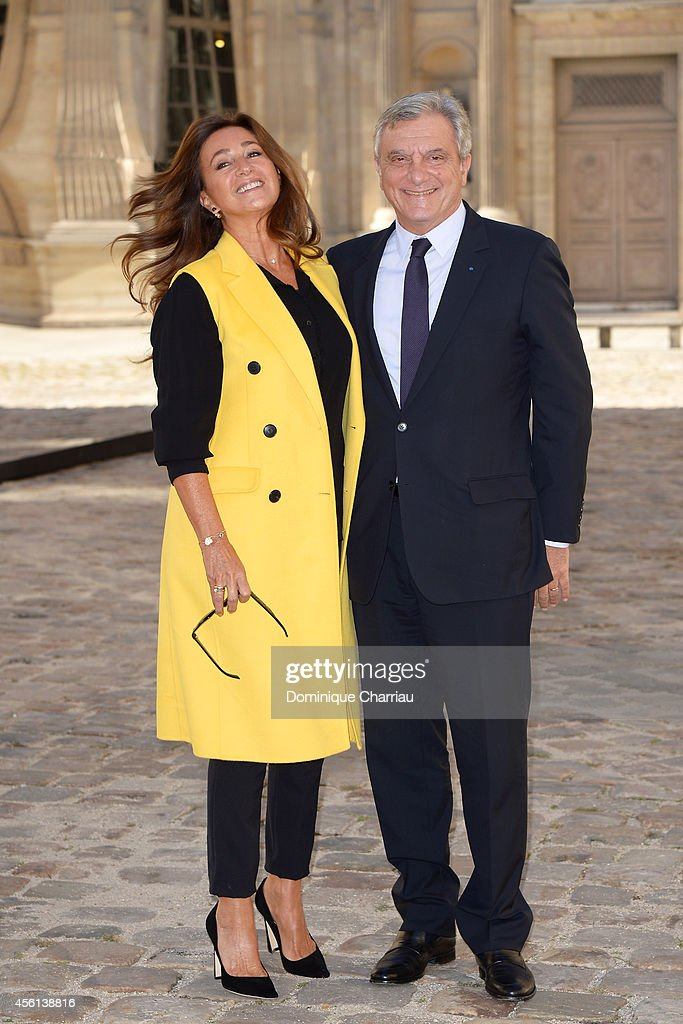Katia Toledano and Sidney Toledano attend the Christian Dior show as part of the Paris Fashion Week Womenswear Spring/Summer 2015 on September 26, 2014 in Paris, France.